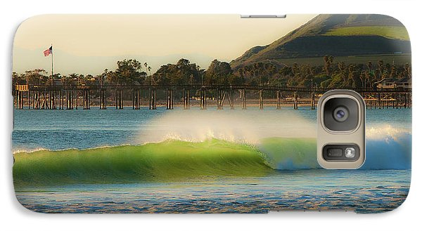 Galaxy Case featuring the photograph Offshore Wind Wave And Ventura, Ca Pier by John A Rodriguez