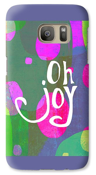 Galaxy Case featuring the painting Oh Joy by Lisa Weedn