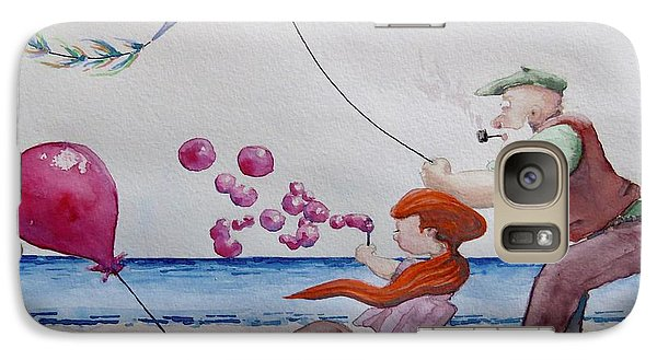 Galaxy Case featuring the painting Oh My Bubbles by Geni Gorani