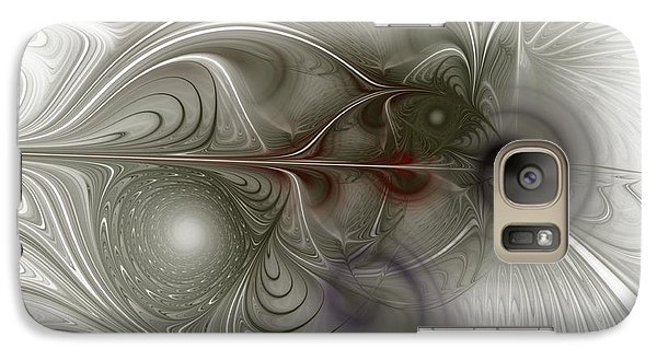 Galaxy Case featuring the digital art Oh That I Had Wings - Fractal Art by NirvanaBlues