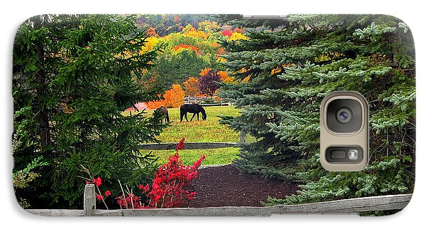 Galaxy Case featuring the photograph Ohio Farm In Autumn by Joan  Minchak