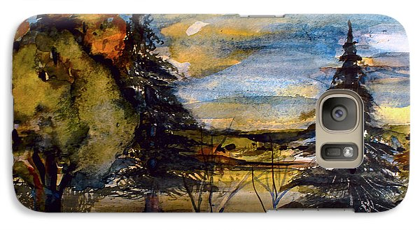 Galaxy Case featuring the painting Ohio Sunset by Mindy Newman