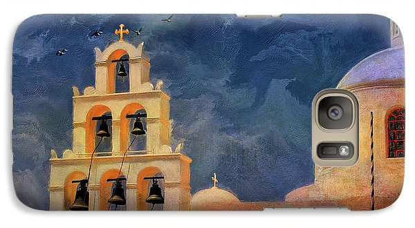 Galaxy Case featuring the photograph Oia Sunset Imagined by Lois Bryan