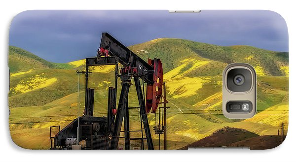 Galaxy Case featuring the photograph Oil Field And Temblor Hills by Marc Crumpler
