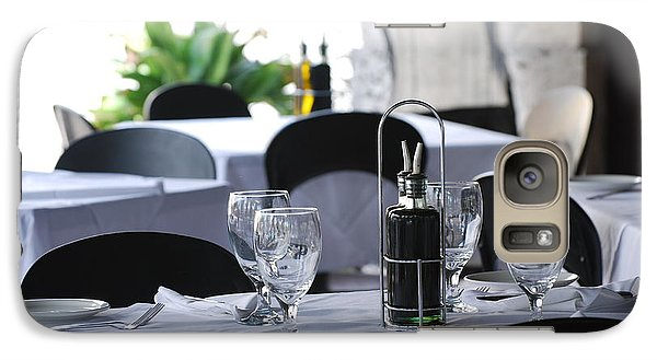 Galaxy Case featuring the photograph Oils And Glass At Dinner by Rob Hans