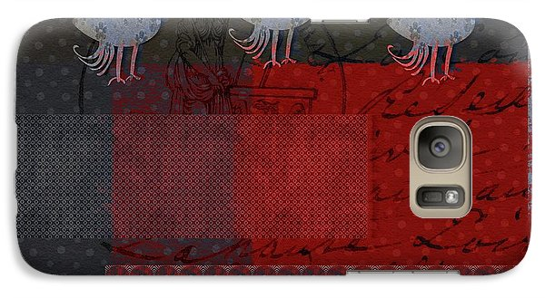 Galaxy Case featuring the digital art Oiselot - S23 by Variance Collections