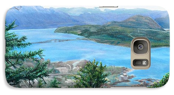 Galaxy Case featuring the painting Okanagan Blue by Bonnie Heather