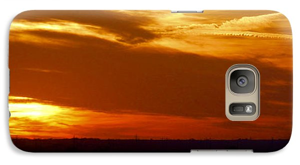 Galaxy Case featuring the photograph Oklahoma Sunset by Larry Keahey