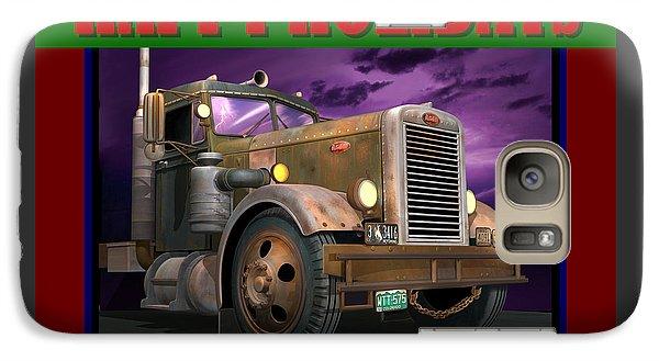 Galaxy Case featuring the digital art Ol' Pete Happy Holidays by Stuart Swartz