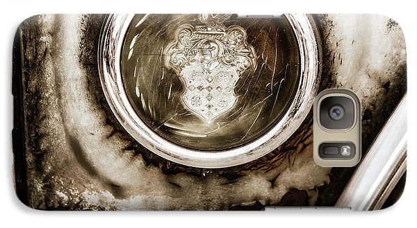 Galaxy Case featuring the photograph Old And Worn Packard Emblem by Marilyn Hunt