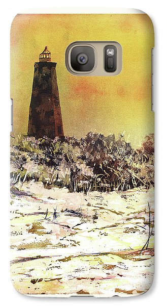 Galaxy Case featuring the painting Old Baldy Lighthouse- North Carolina by Ryan Fox