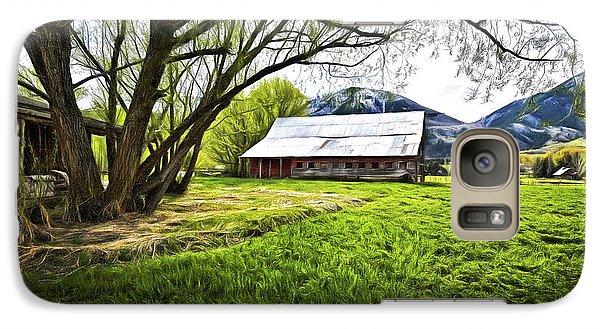 Galaxy Case featuring the digital art Old Barn In Eden Utah by James Steele