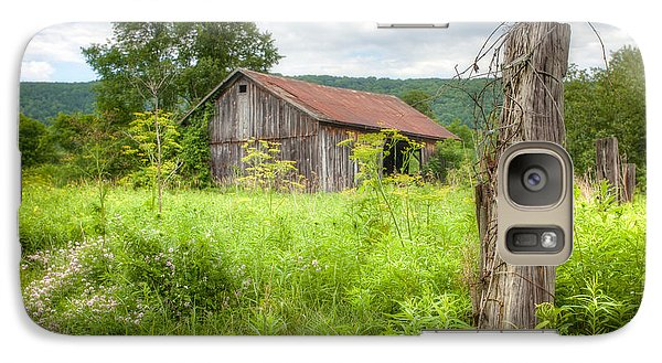Galaxy Case featuring the photograph Old Barn Near Stryker Rd. Rustic Landscape by Gary Heller