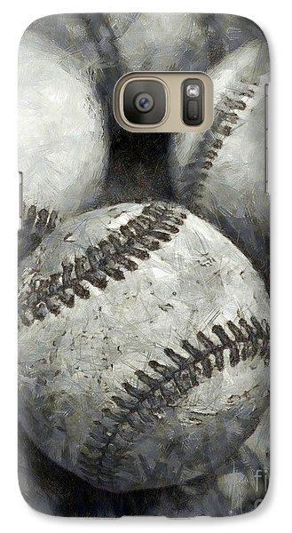 Old Baseballs Pencil Galaxy S7 Case
