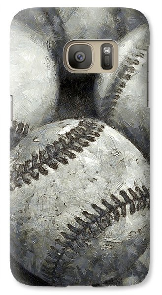 Old Baseballs Pencil Galaxy S7 Case by Edward Fielding