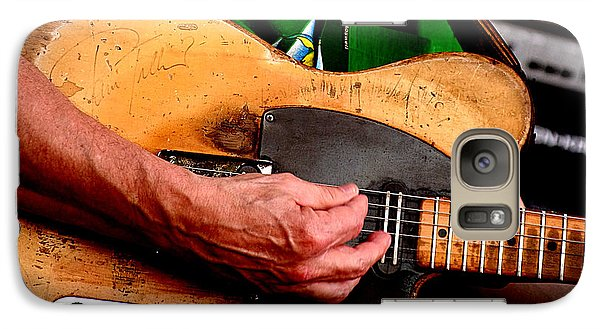 Galaxy Case featuring the photograph Old Blonde Tele by Jim Mathis