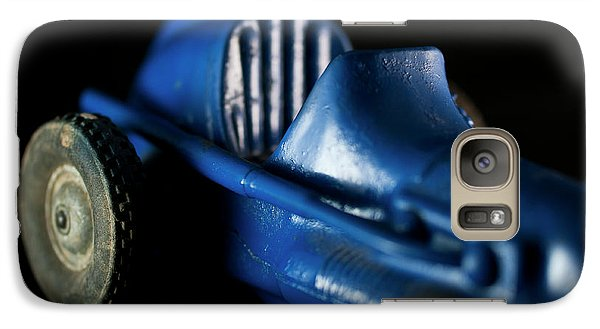 Galaxy Case featuring the photograph Old Blue Toy Race Car by Wilma Birdwell