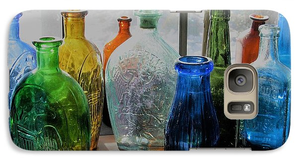 Galaxy Case featuring the photograph Old Bottles by John Scates