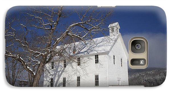 Galaxy Case featuring the photograph Old Boxley Community Building And Church In Winter by Michael Dougherty
