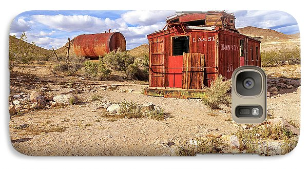 Galaxy Case featuring the photograph Old Caboose At Rhyolite by James Eddy