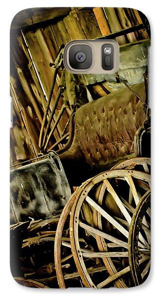 Galaxy Case featuring the photograph Old Carriage by Joann Copeland-Paul