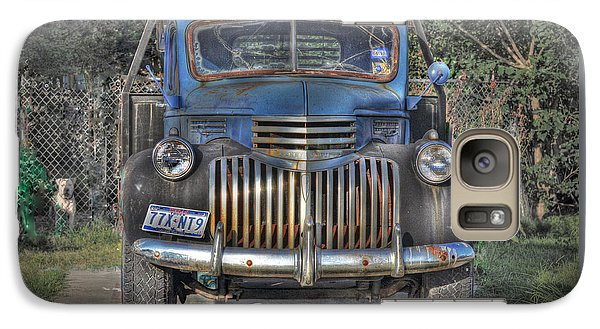 Galaxy Case featuring the photograph Old Chevy Truck by Savannah Gibbs