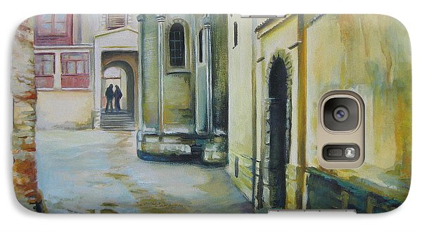 Galaxy Case featuring the painting Old Courtyard by Elena Oleniuc