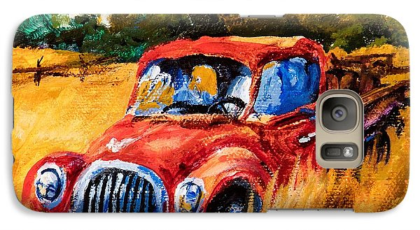 Galaxy Case featuring the painting Old Friend by Igor Postash