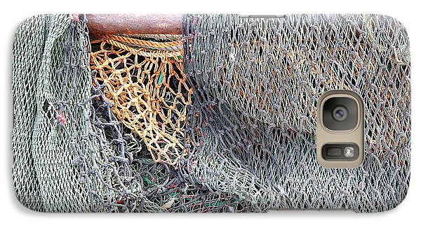 Galaxy Case featuring the photograph Old Discarded Fishing Nets by Yali Shi