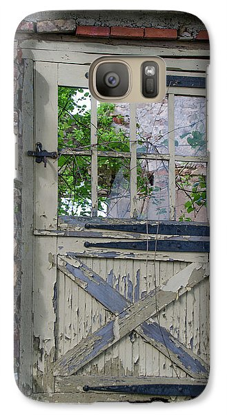 Galaxy Case featuring the photograph Old Door From Bridgetown Millhouse Bucks County Pa by Bill Cannon