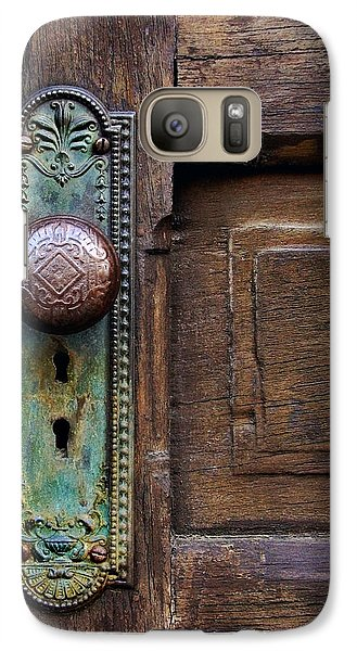 Galaxy Case featuring the photograph Old Door Knob by Joanne Coyle