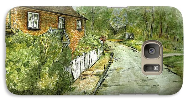 Galaxy Case featuring the painting Old English Cottage by Teresa White