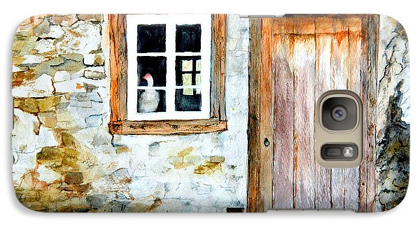 Galaxy Case featuring the painting Old Farm House by Sher Nasser