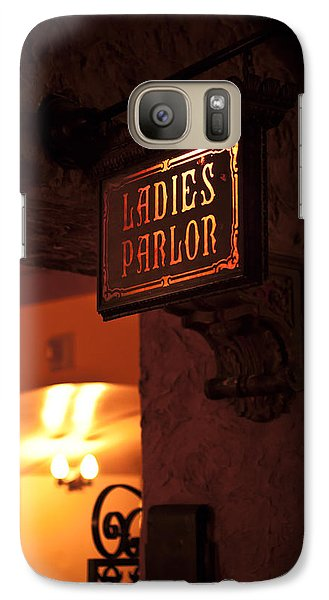 Galaxy Case featuring the photograph Old Fashioned Ladies Parlor Sign by Carolyn Marshall
