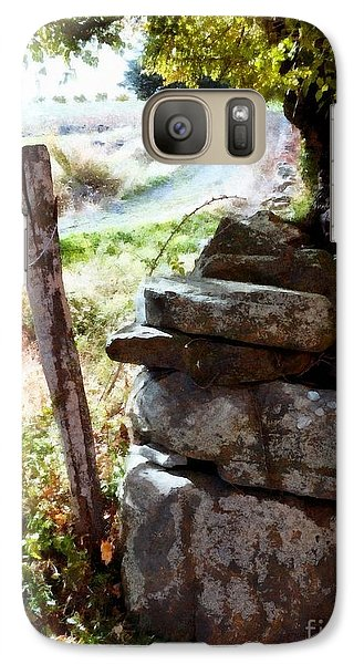 Galaxy Case featuring the photograph Old Fence Post Orchard by Janine Riley