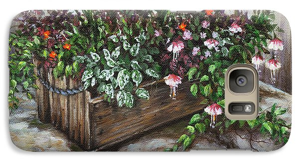 Galaxy Case featuring the painting Old Flower Box by Kim Lockman