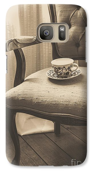 Old Friend China Tea Up On Chair Galaxy S7 Case by Edward Fielding