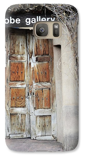Galaxy Case featuring the photograph Old Gallery Door by Andrea Hazel Ihlefeld