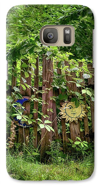 Galaxy Case featuring the photograph Old Garden Gate by Mark Miller
