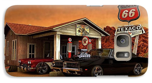 Galaxy Case featuring the photograph Old Gas Station American Muscle by Louis Ferreira