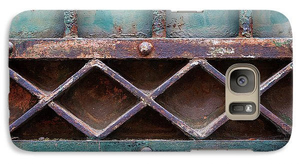 Galaxy Case featuring the photograph Old Gate Geometric Detail by Elena Elisseeva