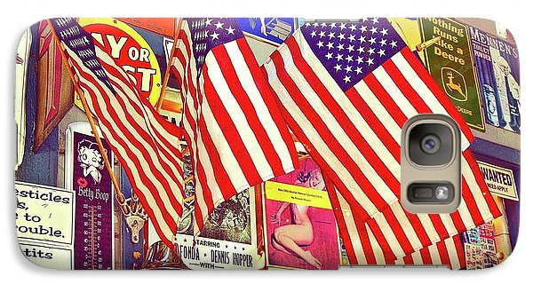 Galaxy Case featuring the photograph Old Glory by Joan Reese