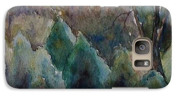Galaxy Case featuring the painting Old Growth Forest by Patsy Sharpe
