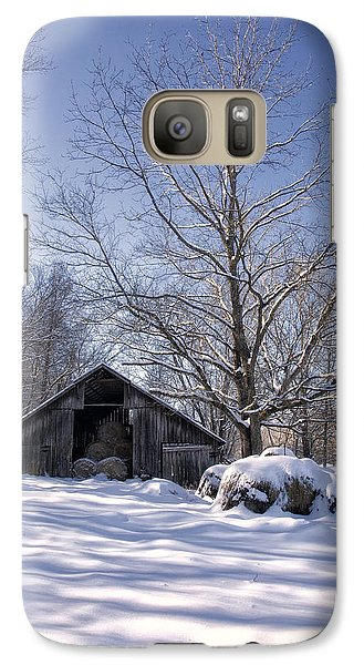 Galaxy Case featuring the photograph Old Hay Barn Boxley Valley by Michael Dougherty