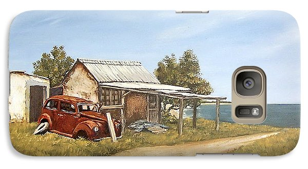 Galaxy Case featuring the painting Old House By The Sea by Natalia Tejera