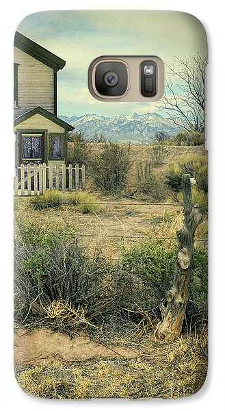 Galaxy Case featuring the photograph Old House Near Mountians by Jill Battaglia