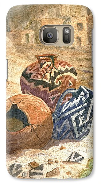 Galaxy Case featuring the painting Old Indian Pottery by Marilyn Smith