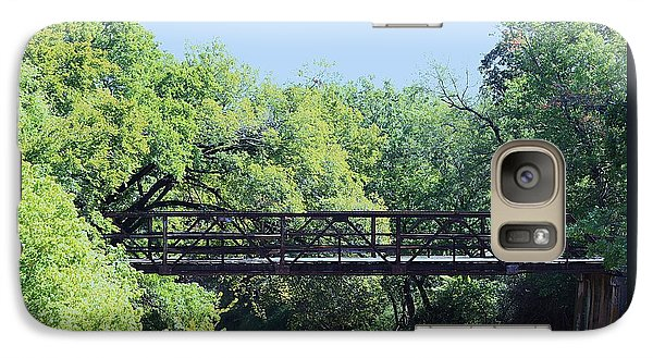 Galaxy Case featuring the photograph Old Iron Bridge Over Caddo Creek by Sheila Brown