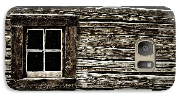 Galaxy Case featuring the photograph Old Log Cabin by Brad Allen Fine Art