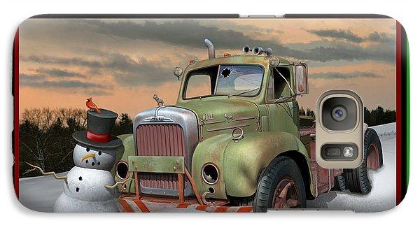 Galaxy Case featuring the digital art Old Mack Christmas Card by Stuart Swartz